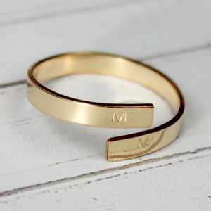 Initial Wrap Around Ring Gold Filled